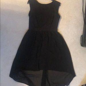 Black Xhiliration high-low dress